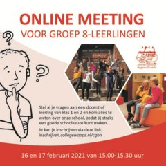 online meeting leerlingen